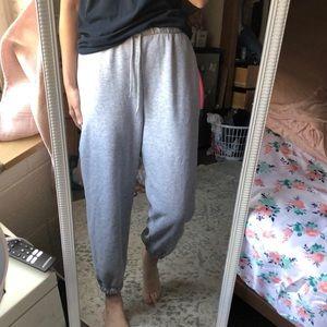 ASOS gray cotton jogger sweat pants cozy comfy✨